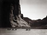 Navajos: Canyon De Chelly, 1904 Reproducción de lámina sobre lienzo por Curtis, Edward S.