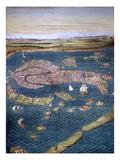 Venice: Map, 16Th Century Giclée-Druck von Ignazio Danti