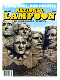 National Lampoon, July 1980 - Mount Rushmore with a Clown Posters