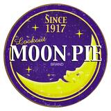 Moon Pie Round Logo Plaque en métal