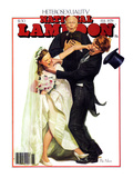National Lampoon, February 1979 - Heterosexuality: A Violent Wedding, Violent Bride and Violent Gro Plakater