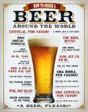 Wie man ein Bier weltweit bestellt Blechschild