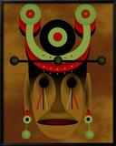 War Mask Reproduction giclée encadrée par Images Monsoon