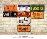 Warhol, Famous Plakater af Greg Constantine