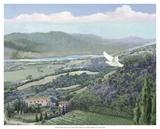 Lavender Tuscany II Poster von Victor Valla