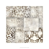 Neutral Patterned Patchwork II Limited Edition by Jennifer Goldberger