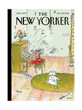 The New Yorker Cover - January 30, 2012 Reproduction giclée Premium par George Booth