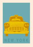 New York - Cab Kunstdrucke von Ben James
