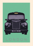 London - Cab I Poster von Ben James