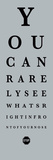 Eye Chart II Stampe di  The Vintage Collection