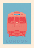 London - Piccadilly Tube Poster par Ben James