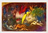 Enlevement de Chloe (Abduction of Chloe) Julisteet tekijänä Marc Chagall