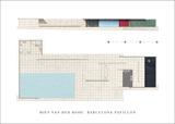 Barcelona Pavillon Kunst av Mies Van Der Rohe