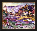 Braque: L'Estaque, 1906 Impressão giclée emoldurada por Georges Braque