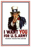 I Want You - Uncle Sam Kunstdrucke