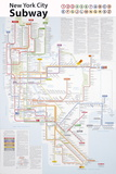New York City Subway Map Plakater av John Tauranac