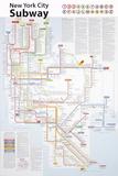 U-Bahn-Karte von New York City Poster von John Tauranac