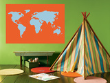 Orange World Prints by  Avalisa