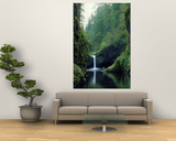 Punch Bowl Falls, Eagle Creek, Columbia River Gorge Scenic Area, Oregon, USA Posters by Janis Miglavs