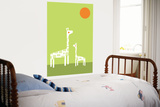 Green Giraffe Posters by  Avalisa
