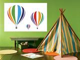 Rainbow Hot Air Balloons Prints by  Avalisa