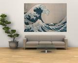 """Den store bølge ud for Kanagawa, fra  serien """"36 Views of Mt. Fuji"""", """"Fugaku Sanjuokkei"""" Plakater af Katsushika Hokusai"""