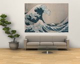"Den store bølgen ved Kanagawa, fra serien ""36 visninger av berget Fuji Fuji, Fugaku Sanjuokkei Posters av Katsushika Hokusai"
