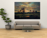 Pond at the Edge of a Wood Posters af Théodore Rousseau