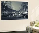 Prinsengracht and Westerkerk, Amsterdam, Nederland Poster av Jon Arnold