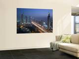 Emirates Towers, Sheik Zayed Road Area, Dubai, United Arab Emirates Plakater af Walter Bibikow