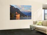 Switzerland, Vaud, Montreaux, Chateau De Chillon and Lake Geneva (Lac Leman) Plakater af Michele Falzone