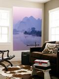 Li River and Limestone Mountains and River,Yangshou, Guangxi Province, China Plakater af Steve Vidler
