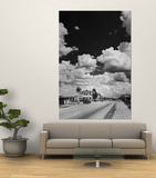 Cumulus Clouds Billowing over Texaco Gas Station along a Stretch of Highway US 66 Poster by Andreas Feininger