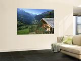 Alpine Cabin, Wengen and Lauterbrunnen Valley, Berner Oberland, Switzerland Posters af Doug Pearson