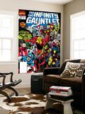 Infinity Gauntlet No.3 Cover: Adam Warlock Stampa di George Perez