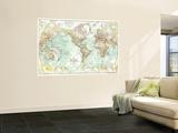 1957 World Map Kunst af  National Geographic Maps