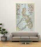 1945 Philippines Map Kunstdrucke von  National Geographic Maps