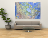 1985 Canada Map Art by  National Geographic Maps