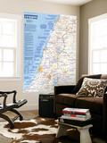 1989 Special Places of the World, Holy Land Map アート : 地図(ナショナル・ジオグラフィック)