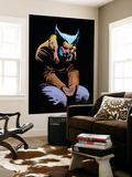 Wolverine No.3 Cover: Wolverine and Logan Flying Plakater af Frank Miller