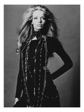 Vogue - November 1969 - Veruschka Draped with Necklaces Premium Photographic Print by Franco Rubartelli