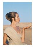 Vogue - April 1967 - Veruschka in an Egyptian Desert Premium Photographic Print by Franco Rubartelli