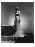 Vogue - February 1936 - Chiffon Gown by Madame Gres Premium Photographic Print by Horst P. Horst