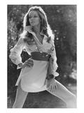Vogue - January 1969 - Veruschka Wearing Shirtdress Premium Photographic Print by Franco Rubartelli