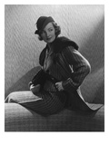 Vogue - November 1934 - Gwili Andre in Wool-Collared Suit Premium Photographic Print by Edward Steichen