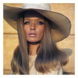 Vogue - April 1969 - Veruschka in Broad-Brimmed Hat Premium Photographic Print by Franco Rubartelli