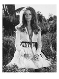 Vogue - January 1969 - Veruschka Kneeling in a Clearing Premium Photographic Print by Franco Rubartelli