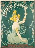 Absinth von Blanqui, Französisch Blechschild