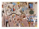 Carnival of Harlequin Kunst af Joan Miró