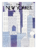 The New Yorker Cover - January 28, 1980 Premium Giclée-tryk af John Norment